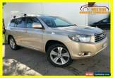 Classic 2007 Toyota Kluger GSU40R KX-S Wagon 7st 5dr Spts Auto 5sp, 2WD 3.5i [Aug] Gold for Sale